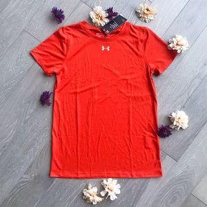 Under Armour Heat Gear Fire Truck Red Shirt